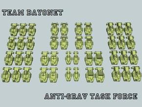 """Team Bayonet"" 3mm Anti-Grav Task Force (44pcs) in White Acrylic"