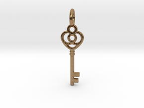 Key Pendant in Natural Brass