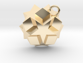 Dodecadodecahedron Charm in 14K Yellow Gold