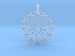 Star No.2 Pendant in Smooth Fine Detail Plastic