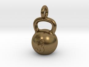 Kettlebell Tiny Tiny Little Earring in Natural Bronze
