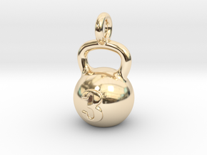 Kettlebell Tiny Tiny Little Earring in 14K Yellow Gold