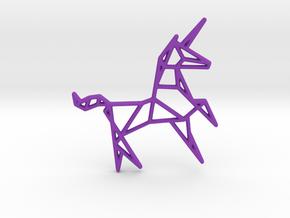 Unicorn Pendant in Purple Processed Versatile Plastic