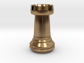 Chess Set Rook in Natural Brass