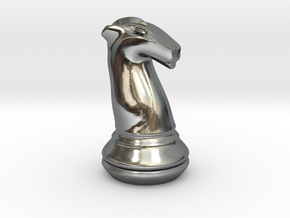 Chess Set Knight in Polished Silver