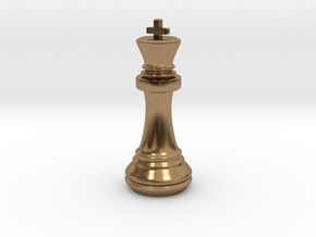 Chess Set King in Natural Brass