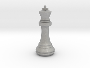 Chess Set King in Raw Aluminum