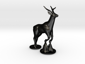 Deer in Matte Black Steel