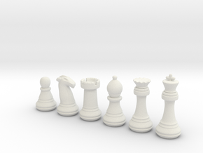Chess Set   in White Natural Versatile Plastic