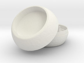 PokeGO Store Herbal Grinder in White Strong & Flexible