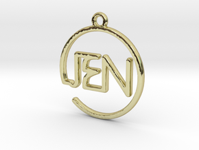 JEN First Name Pendant in 18k Gold Plated Brass