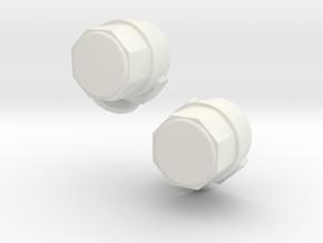1/500 Scale Two SPG-49 Talos Directors in White Natural Versatile Plastic