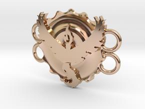 Pokemon Go Team Valor Bracelet Medallion in 14k Rose Gold