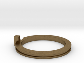 Slim Stackable Ring Size 7 in Natural Bronze