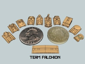 """Team Falchion"" 3mm Tracked Armor Sampler in White Acrylic"