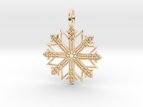 Pendant No.7 in 14k Gold Plated Brass