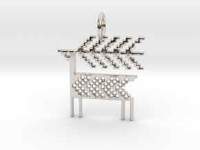 Reindeer Pendant in Platinum