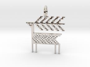 Reindeer Pendant in Rhodium Plated Brass