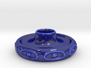 Portacandela 1 in Gloss Cobalt Blue Porcelain