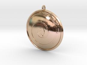 Steven Universe 'Rose's Shield' Necklace in 14k Rose Gold
