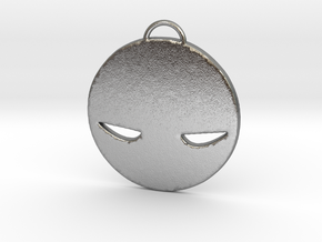 Angry Face in Natural Silver