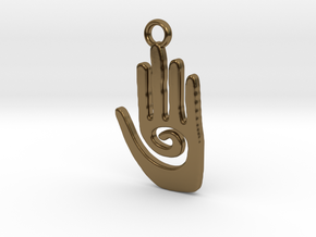 Healing Hand in Polished Bronze