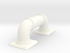 Pipe Barricade Square in White Processed Versatile Plastic