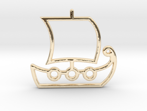 Ship No.1 in 14k Gold Plated Brass