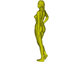 1/15 scale nude beach girl posing figure A in Smooth Fine Detail Plastic