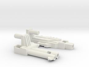 FIRE BIRD GUN in White Natural Versatile Plastic