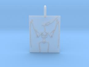 Pterodactyl Skeleton Pendant in Smooth Fine Detail Plastic