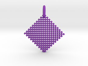Squares Pendant in Purple Processed Versatile Plastic