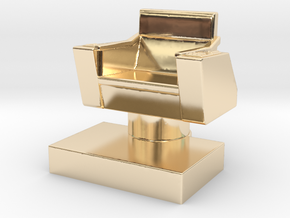Game piece captain's chair in 14k Gold Plated Brass