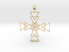 Squares Pendant No.2 in 14K Yellow Gold