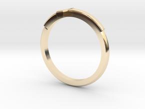 Cross Mid Finger Ring in 14K Yellow Gold