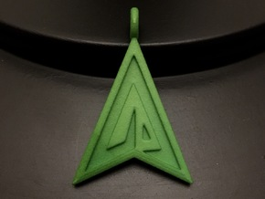 Green Arrow Keychain in Green Processed Versatile Plastic