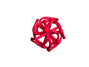 Dodecahedron Mesh - small in Red Strong & Flexible Polished