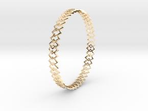 Square Bracelet in 14K Yellow Gold