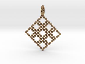 Pendant Square No.4 in Natural Brass