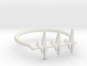Vital ring in White Natural Versatile Plastic