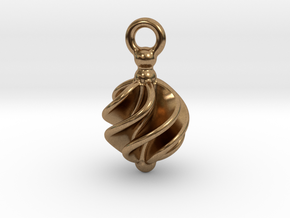 Earring Twisted in Natural Brass