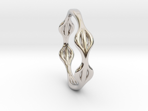 Soft ring in Rhodium Plated Brass