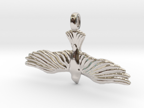 DOVE Symbol Jewelry Pendant in Platinum