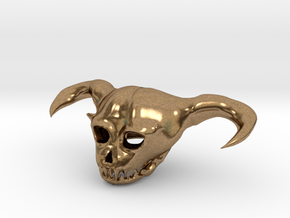 Demon Skull in Natural Brass