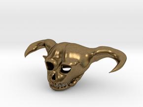 Demon Skull in Natural Bronze