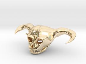 Demon Skull in 14k Gold Plated Brass