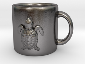 Kemps Ridley Baby Sea Turtle Coffee Mug  in Polished Nickel Steel