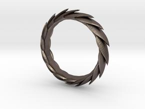 Leaf Bracelet in Polished Bronzed Silver Steel