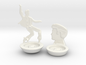RockStar Vigil 2 Candle holders in Gloss White Porcelain