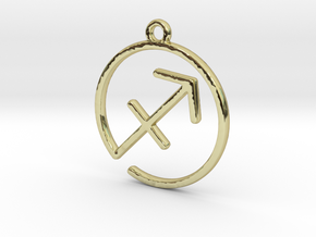 Sagittarius Zodiac Pendant in 18k Gold Plated Brass